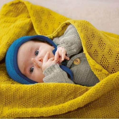 Disana Baby Blanket Knitted Wool
