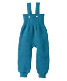 Disana knitted wool trousers - blue