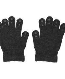 GoBabyGo Wool Grip Gloves - Dark Grey Melange
