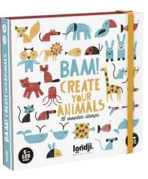 Londji Activity BAM Animals - 16 wooden stamps
