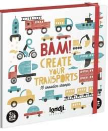 Londji Activity BAM Transports - 16 wooden stamps