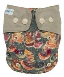 Puppi Merino Wool Cover One Size - Grey Jellyfish (Snaps)