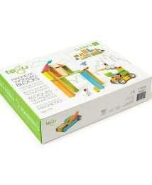 Tegu Magnetic Wooden Blocks (Classics - Colourful, 42 pieces)