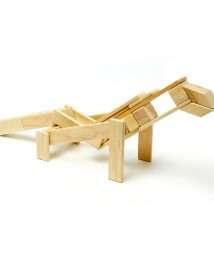 Tegu Magnetic Wooden Blocks (Classics - Natural, 24 pieces)