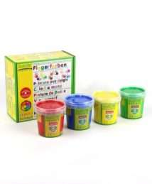 ökoNorm finger paint 4 colours red, blue, yellow and green