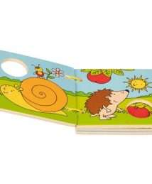 Goki Wooden Picture book Our garden (2)