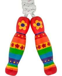Lanka Kade skipping rope - Red rainbow flowers