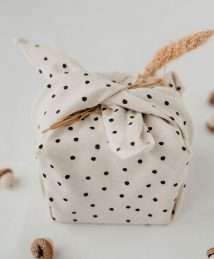 gift wrap fabric dots Photo credits Eulenschnitt and Maggy Melzer