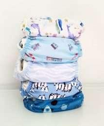 Baba + Boo Bundle of 5 Newborn pocket nappies