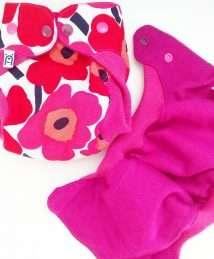 Bärenkind Wool Cover Newborn with Wool cuffs Marimekko Spirit of Unikko Cloth nappy
