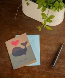 Die Stadtgärtner - greeting seed card - Alles Liebe - Wal (2)