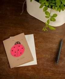 Die Stadtgärtner - greeting seed card - Viel Glück - Ladybug (2)
