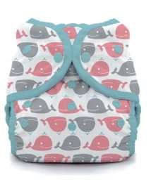Thirsties Duo Wrap Snap Cover - Whales