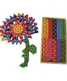 BS-00178 Bauspiel Coloured Triangles set of 100