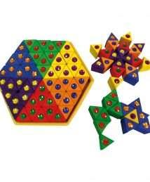 BS-00186 Bauspiel Coloured Triangles - 54 piece set
