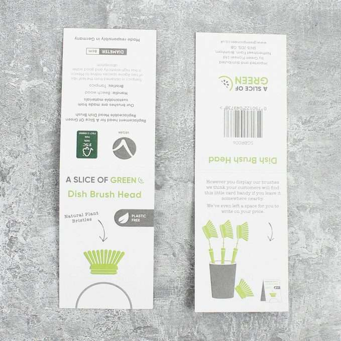 A Slice of Green Wooden Head for Dish Brush - Plant Based Bristles