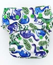 Little Birds One Size AiO cloth nappy - Dino