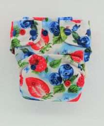 Little Birds One Size AiO cloth nappy - Very Berry