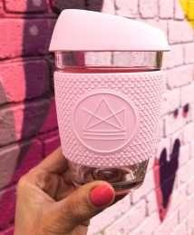 Neon Kactus Glass Cup - Flamingo - Pink