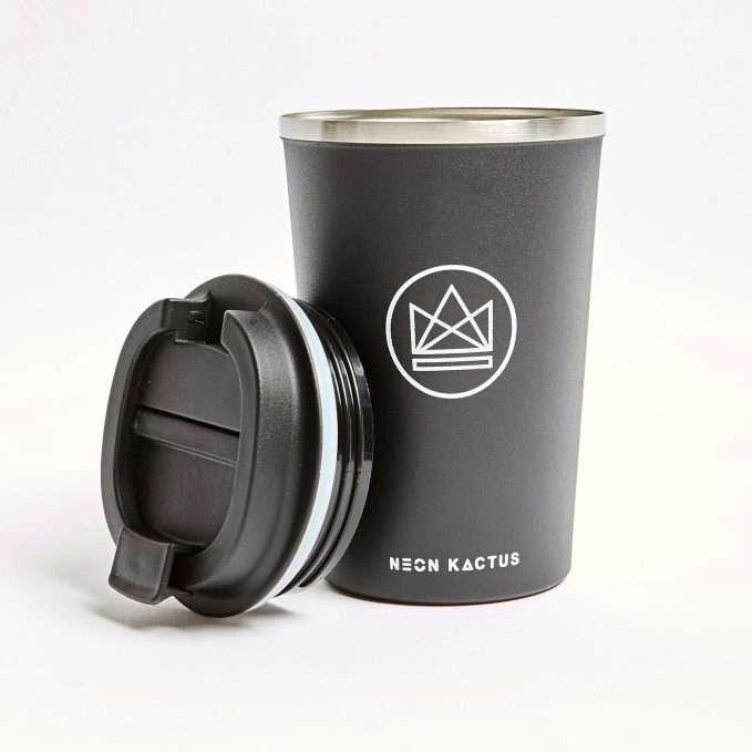 Neon Kactus Travel Mug (Rockstar - Black)