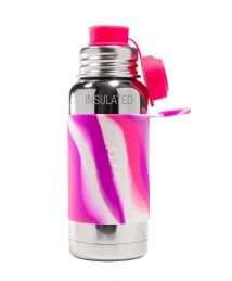 Pura Big Mouth® Sport Insulated Bottle 475 ml - Pink Swirl