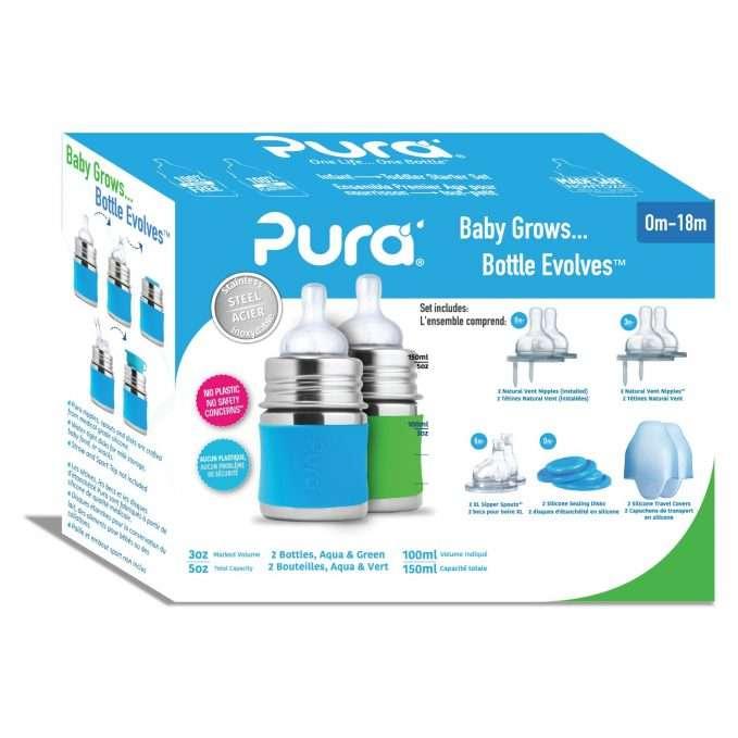Pura Kiki® Infant Starter Set 125 ml - blue and green (2)