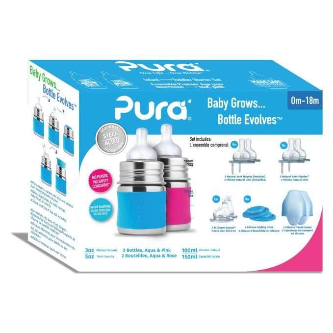 Pura Kiki® Infant Starter Set 125 ml - blue and pink (2)