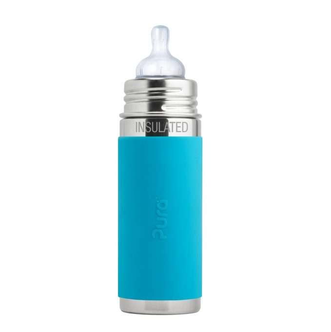 Pura Kiki® Insulated Infant Bottle (250ml) 9oz - Aqua