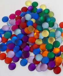 BS-003138 Bauspiel Frosted Sparkling Stones, 120 pieces in 12 colours