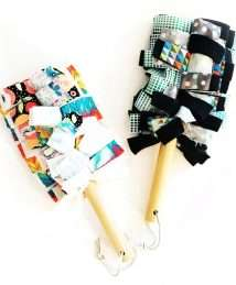 Marley's Monsters Washable Duster - Ivory and Black