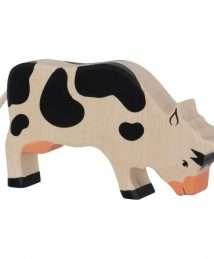 80002 Holztiger Cow, grazing, black