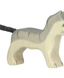 80056 Holztiger Cat, small, grey