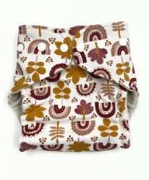 Boo&Boo Wonderfluff Wool Cover One Size - Leaves brick