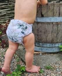 Eco Mini Onesize Cloth diaper Stoffwindel - Leafy (3)