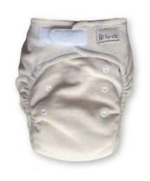 Hu-da Fitted Nappy Velour (One Size) - nature