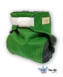 hu-da Wool Cover Klett-Wollüberhose grün anthrazit