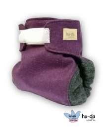 hu-da Wool Cover Klett-Wollüberhose lila anthrazit