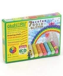 ökoNORM Drawing Chalk Ecofee - Golden Glitter (7 Colours)