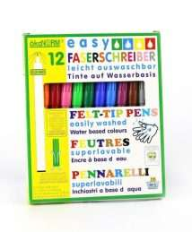 ökoNorm easy felt tip pen 2 mm - 12 colors (easily washable) (1)