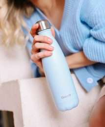 Qwetch Insulated Stainless Steel Bottle - Pastels light blue