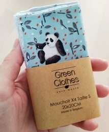 Green Clothes Hankies Washable Tissues (4 Pack) - Petit Ours