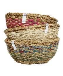 ReSpiin Round Sari & Seagrass Bowl