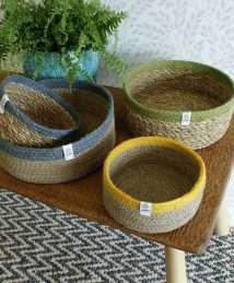 Respiin Shallow Seagrass & Jute Basket (1)