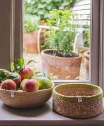 Respiin Shallow Seagrass & Jute Basket Medium (2)