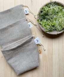 rewinder bag germinated linen food bag